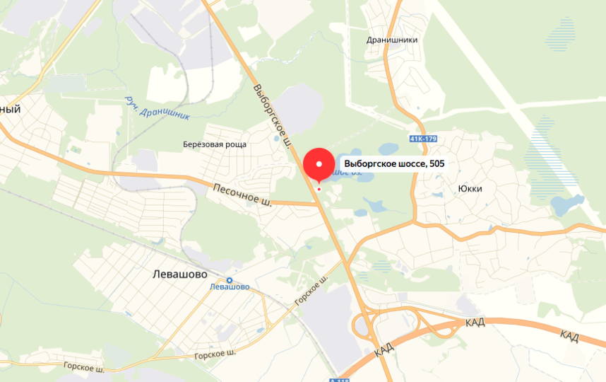 """ДТП произошло на Выборгском шоссе. Фото яндекс.карты., """"Metro"""""""