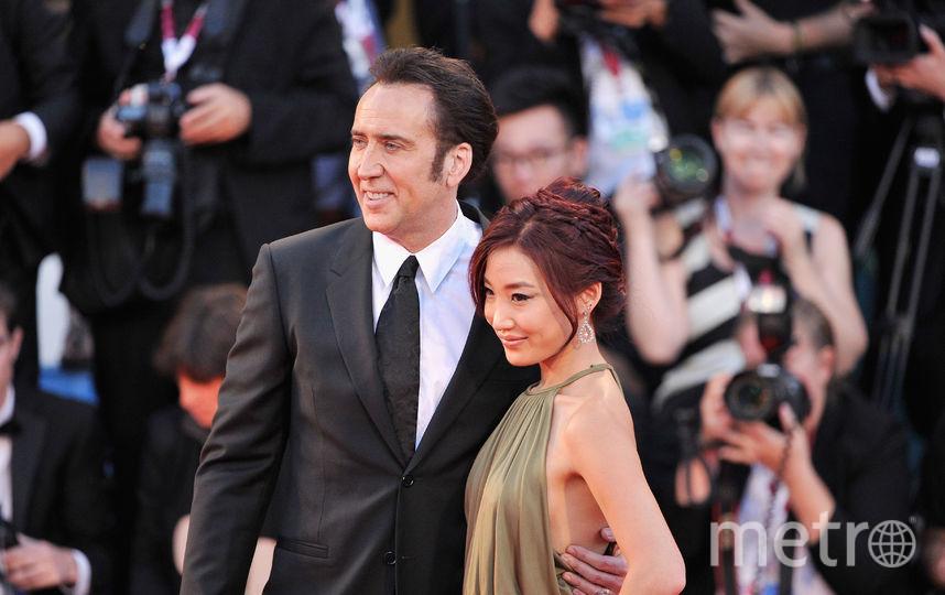 Николас Кейдж с третьей женой – Элис Ким. Фото Getty