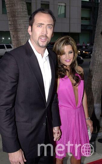 Николас Кейдж со второй женой Лизой Марией Пресли. Фото Getty