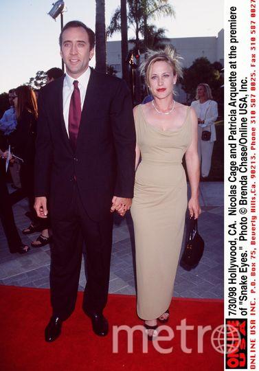 Николас Кейдж с первой женой Патрисией Аркетт. Фото Getty
