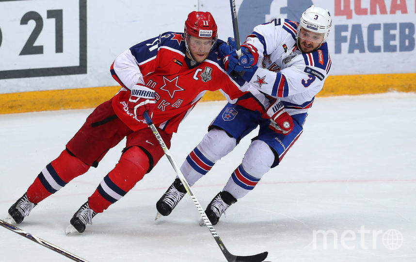 СКА одержал первую победу над ЦСКА в сезоне. Фото photo.khl.ru