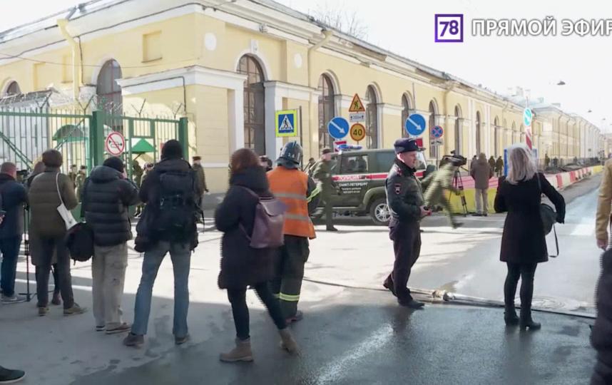 Трансляция с места взрыва в академии имени Можайского телеканал 78.