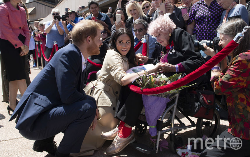 Дафна Данн, принц Гарри и Меган Маркл. 2018 год. Фото Getty