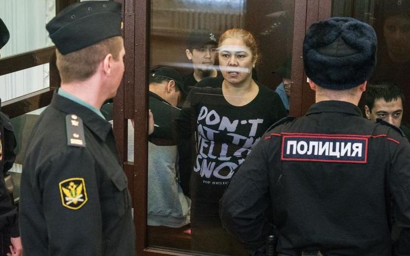 """В Ленинградском окружном военном суде сегодня начали рассматривать по существу дело о теракте 3 апреля 2017 года. Фото """"Metro"""""""