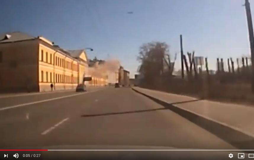 """Взрыв попал на видео. Фото скриншот youtube, """"Metro"""""""
