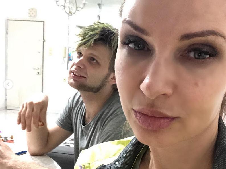 Эвелина Бледанс и сын Николай.. Фото Скриншот Instagram: @bledans