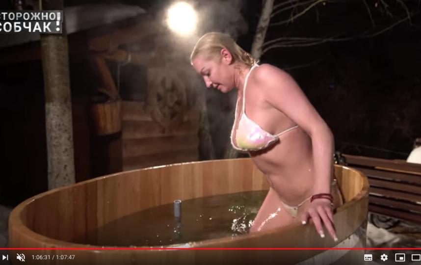 Волочкова после бани. Фото скриншот https://www.youtube.com/watch?v=NX0UrURzGf0