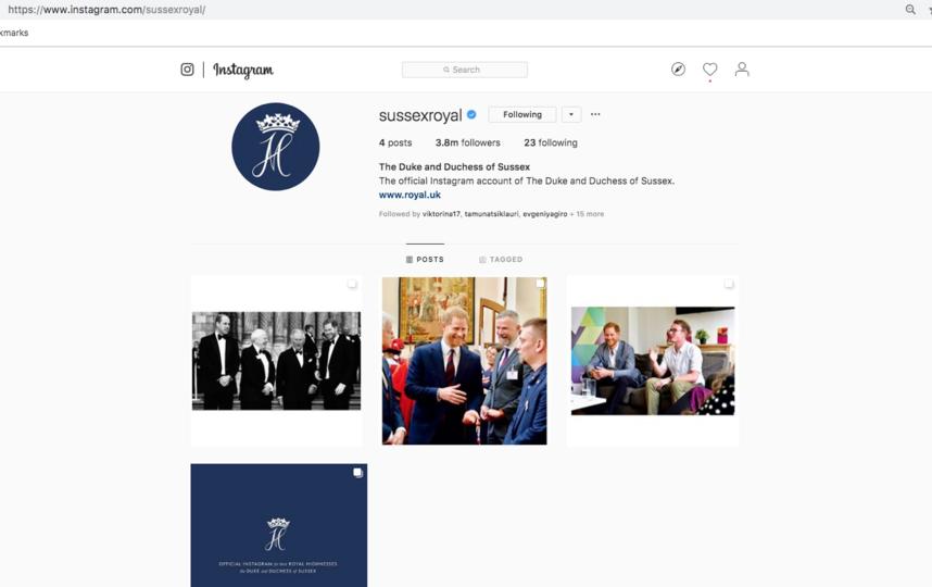 Аккаунт Меган Маркл и принца Гарри в Instagram. Фото www.instagram.com/sussexroyal