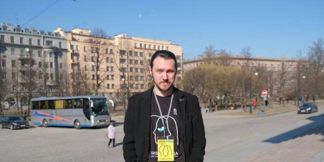 Пётр Казук, студент белорусской академии искусств.