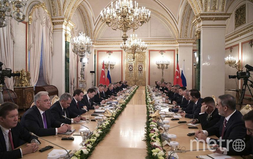 Заседание Совета сотрудничества высшего уровня между Россией и Турцией. Фото AFP
