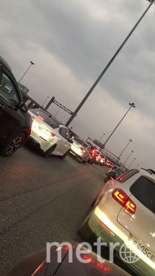 Пробки наблюдались уже вечером 8 апреля. Фото соцсети, vk.com