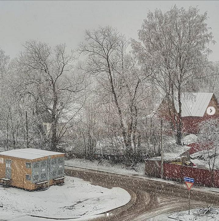 Выборг завалило снегом: Instagram пополнился холодными фото. Фото Скриншот Instagram: @rinatkhakimov_vbg