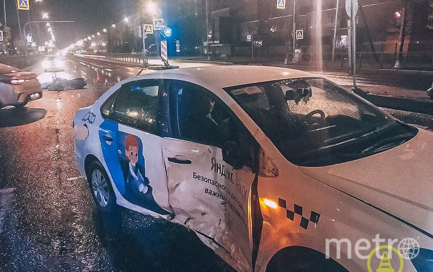 "Фото с места аварии. Фото https://vk.com/dorinspb, ""Metro"""