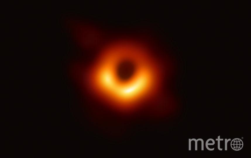 Изображение было получено в рамках проекта Event Horizon Telescope. Фото AFP