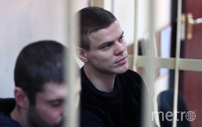 Футболист Александр Кокорин, обвиняемый в хулиганстве и побоях, в Пресненском суде Москвы. Фото РИА Новости