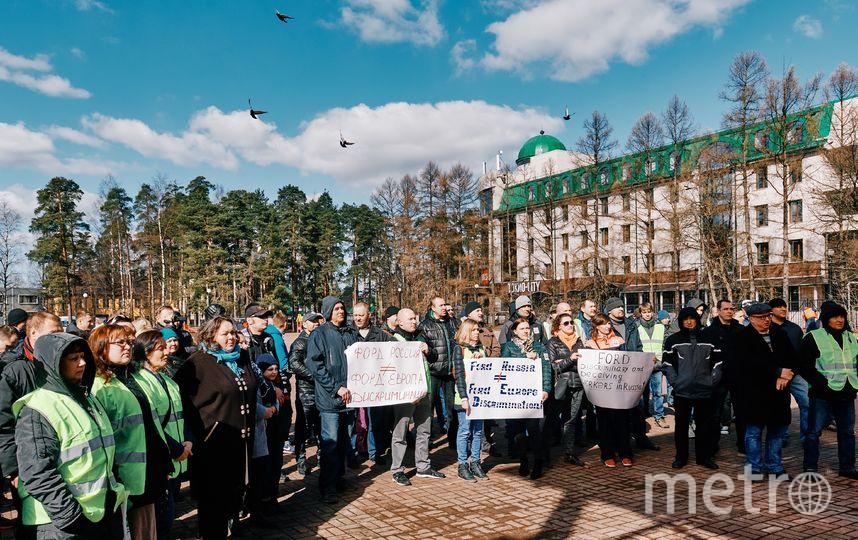"""Забастовка во Всеволожске. Фото """"Metro"""""""