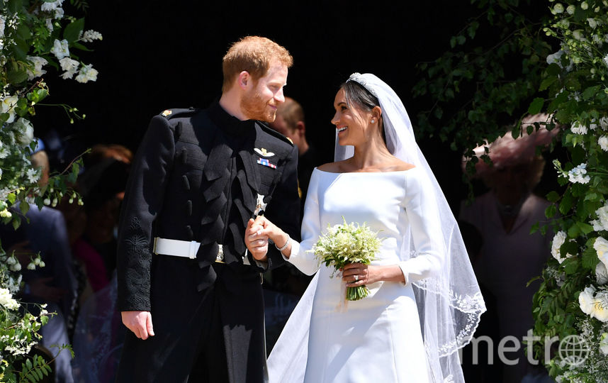 Принц Гарри и Меган Маркл на своей свадьбе. Фото Getty