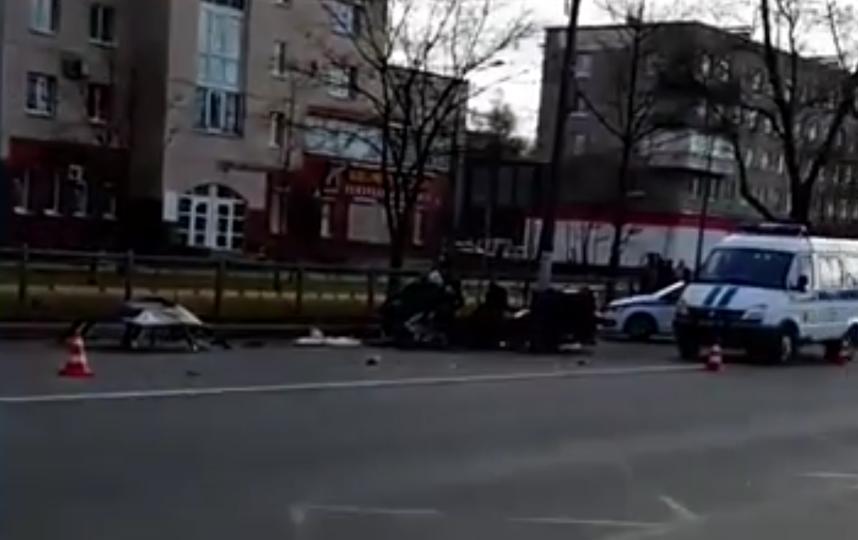 В Петербурге два человека погибли в ДТП с автобусом. Фото скриншот видео https://ren.tv