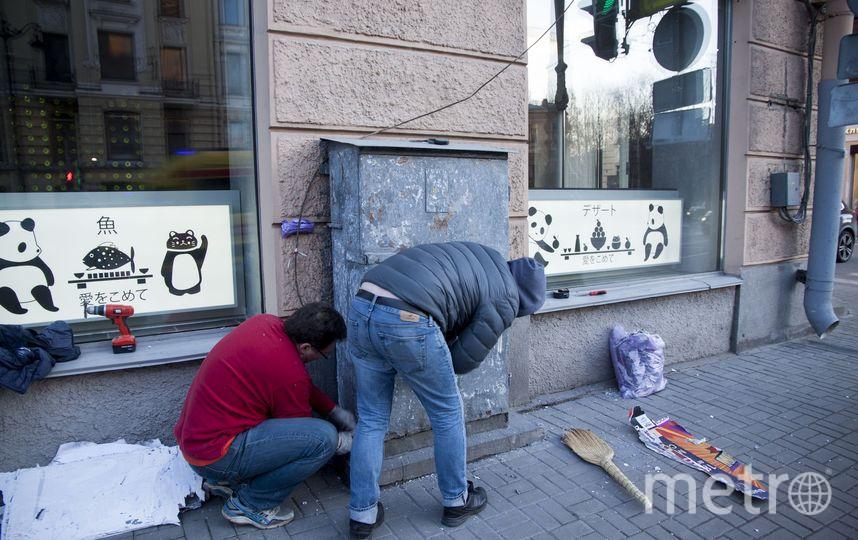 """В Петербурге появился """"слон, который хотел стать мухой"""": Фото. Фото mytndvor, vk.com"""