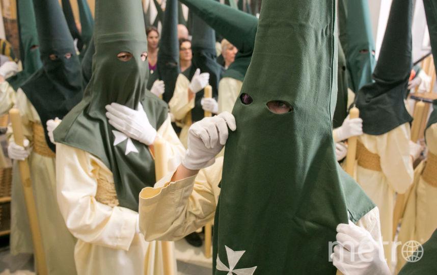 Антонио Бандерас принял участие в шествии в Малаге. Фото Getty