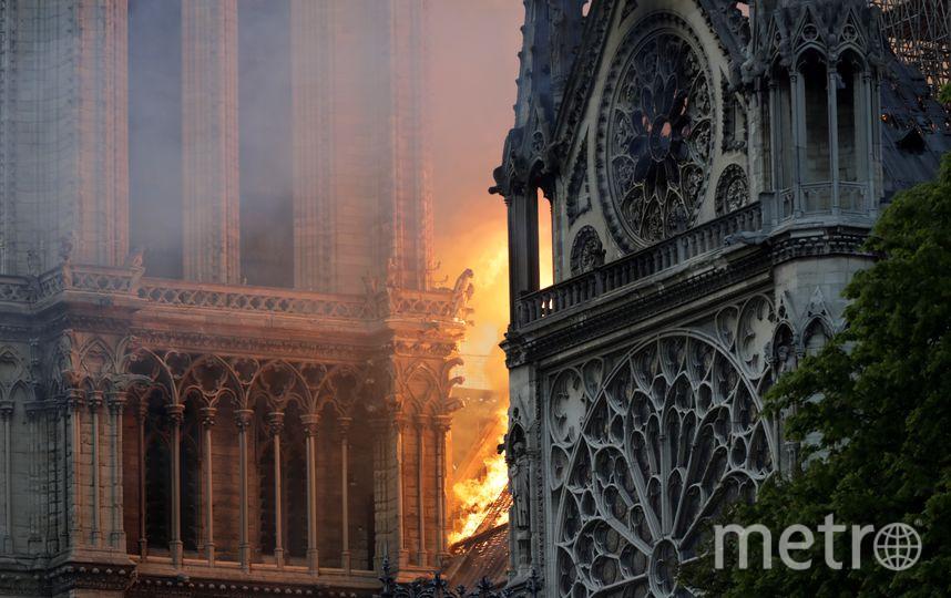 Во Франции полыхает собор Парижской Богоматери. Фото AFP