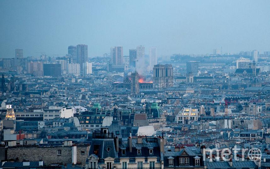 Горит собор Парижской Богоматери. Фото Getty