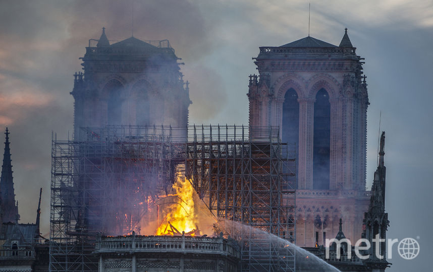 Пожар в Нотр-дам-де Пари. Фото Getty