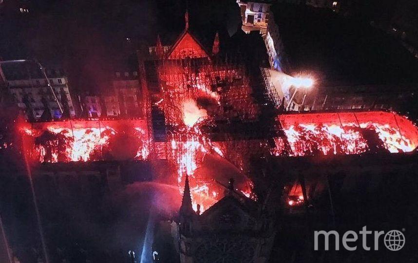 Так выглядит собор с высоты дрона. Фото https://t.me/rt_russian, Getty