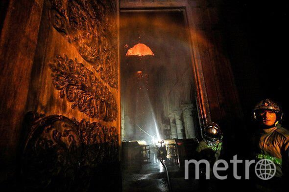 "Так выглядит собор после пожара. Фото https://t.me/rt_russian, ""Metro"""