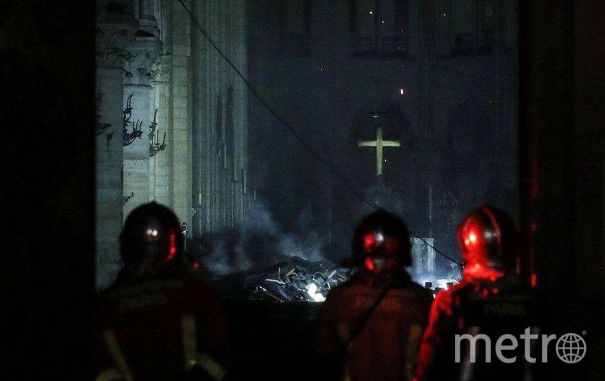 """Так выглядит собор после пожара. Фото https://t.me/breakingmash, """"Metro"""""""