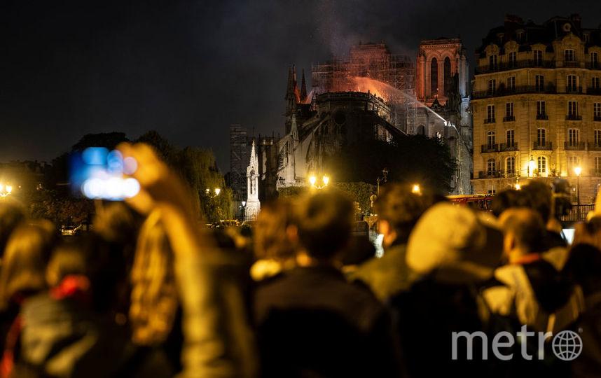 Пожар в парижском соборе Нотр-Дам-де-Пари. Фото Getty