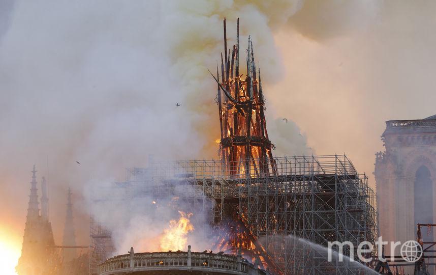 Пожар в парижском соборе Нотр-Дам-де-Пари. Фото AFP