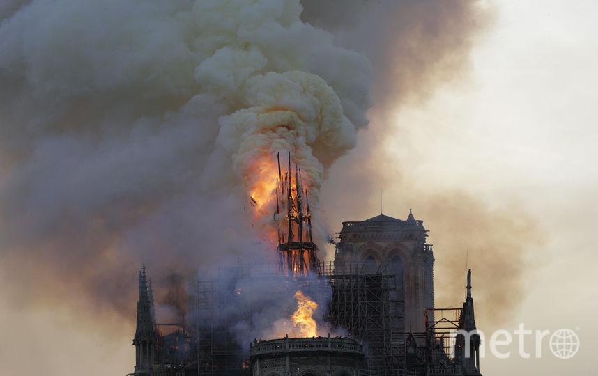 Пожар в Соборе Парижской Богоматери. Фото AFP