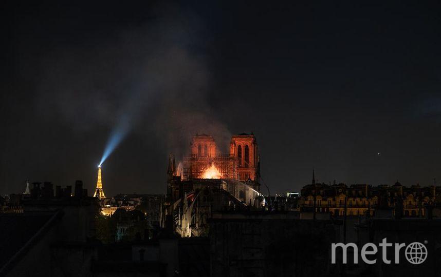 Фото пожара в Париже. Фото Getty