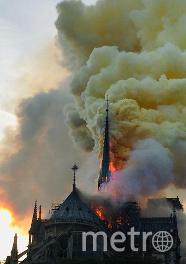 Горящий собор Парижской Богоматери. Фото AFP
