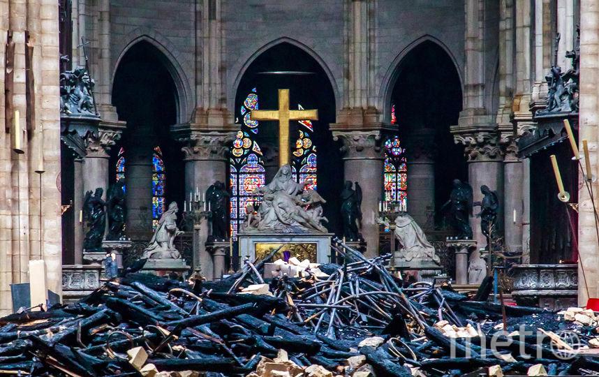 Собор Парижской Богоматери после пожара. Фото AFP