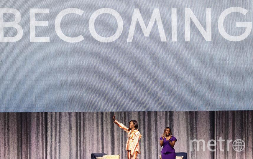 Мишель Обама на презентации в Париже. Фото Getty