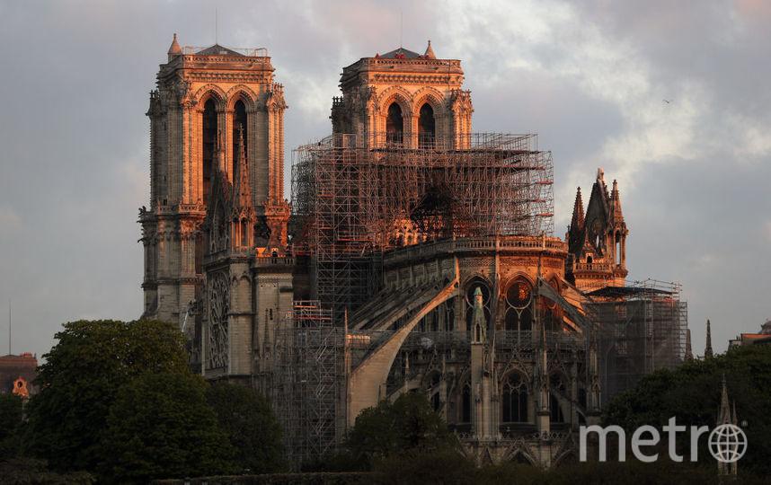 Собор Парижской Богоматери после пожара. Фото Getty