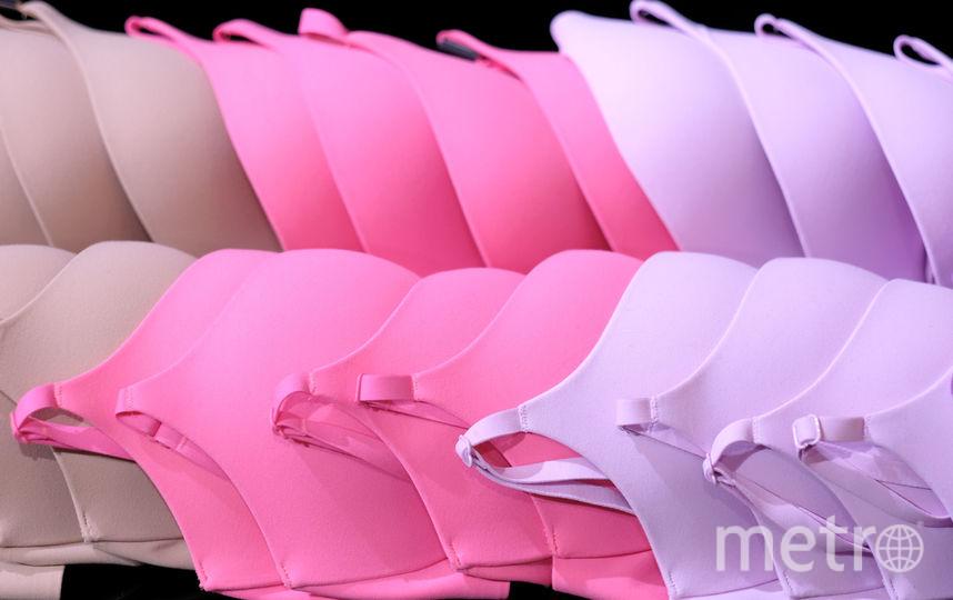 Барбара Палвин на презентации бюстгальтеров от известного бренда. Фото Getty
