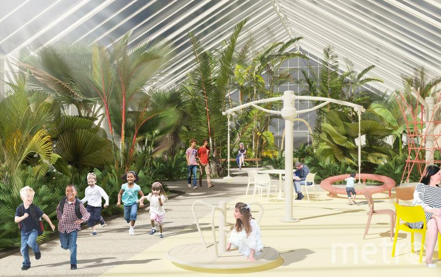 """Концепция реконструкция Оранжерей в Таврическом саду. Фото Ginza Project, """"Metro"""""""