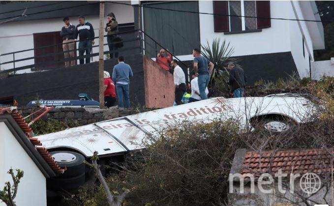 "ДТП с автобусом на Мадейре. Фото соцсети, ""Metro"""