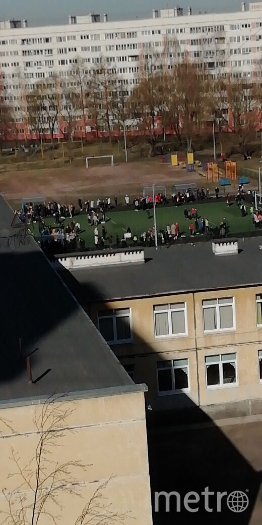 "Эвакуировали школы. Фото соцсети, ""Metro"""