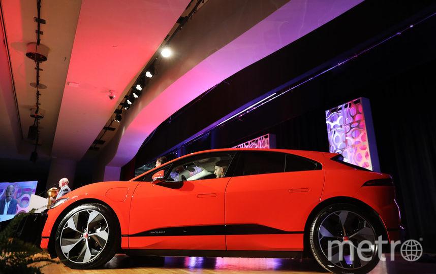 Автосалон в Нью-Йорке. Jaguar I-Pace. Фото Getty