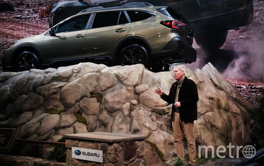 Автосалон в Нью-Йорке. Subaru Outback. Фото Getty