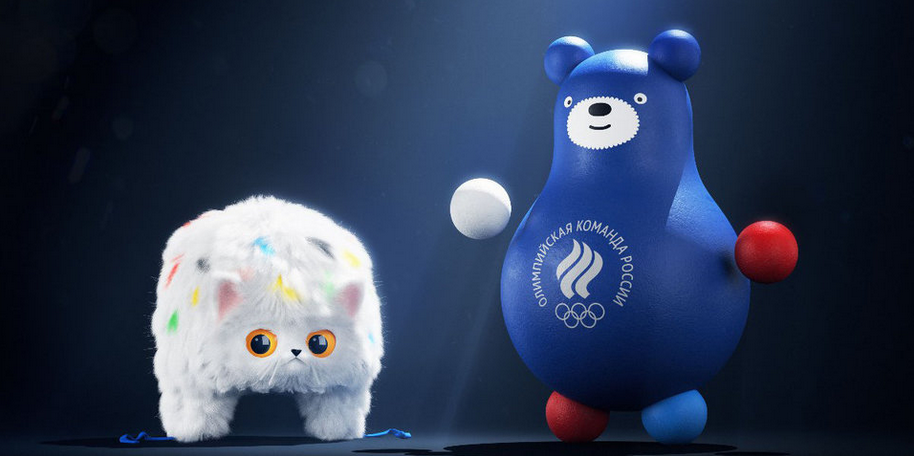 Кот-Шапка-ушанка и Мишка-неваляшка-матрешка. Фото Instagram | @teamrussiamascots