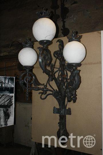 """Фонари на фасаде павильона были уже тогда электрифицированы. Новые тоже будут гореть. Фото Карина Тепанян, """"Metro"""""""