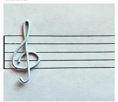 «Скрипичный ключ» (Пётр Дрофа). Фото vk.com/podelkiizskrepki