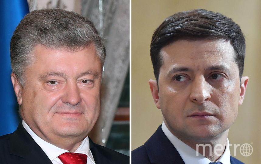 Пётр Порошенко и Владимир Зеленский. Фото AFP