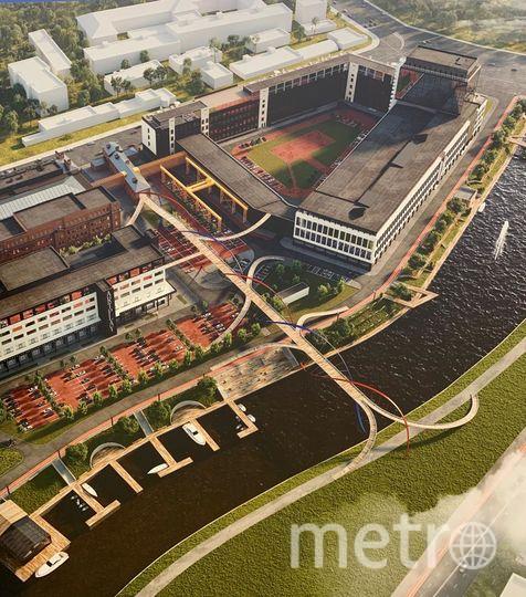 """Проект по обустройству набережной реки Охты обсуждают на городском уровне. Фото компания «Бонава Санкт-Петербург», """"Metro"""""""