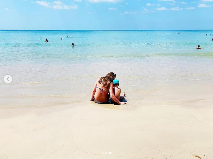 Елизавета Шевыркова с сыном. Фото Скриншот Instagram: @elizavetabasharova